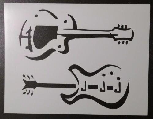 "Guitar Guitars 11/"" x 8.5/"" Custom Stencil FAST FREE SHIPPING"