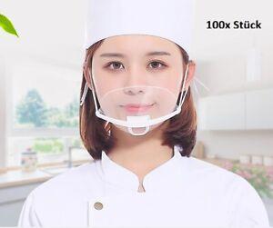 100x Piece Face Visor Face Protection Hygiene Face Shield Face Visor