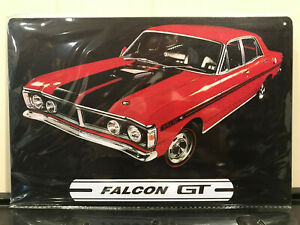 Ford-Falcon-GT-Tin-Sign-Man-Cave-Garage-Bar-Games-Room-Red-XY-XW-GTHO-Phase-3