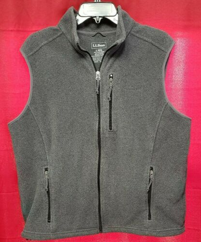 LL Bean Sweater Vest Gray Size Large