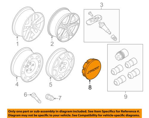 FORD OEM Wheel-Center Cap Hub Cover AE5Z1130A