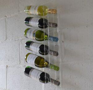 wine bottle holder display rack clear perspex acrylic ebay. Black Bedroom Furniture Sets. Home Design Ideas