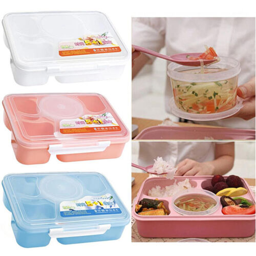 Microwave Bento Lunch Box Spoon Utensils Picnic Food Container Storage Box Pop