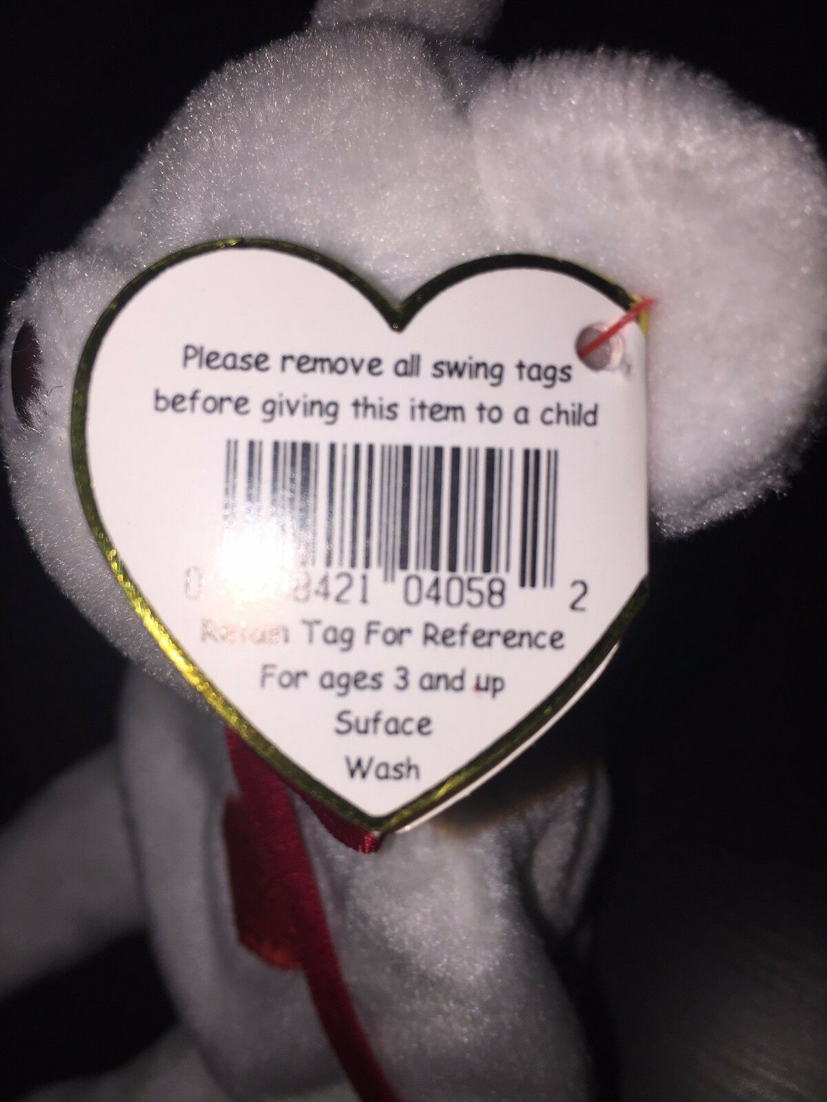 TY BEANIE BABY  VALENTINO  VERY RARE 1993 1994 1994 1994 COLLECTIBLE HANG TAG ERRORS  1473b0