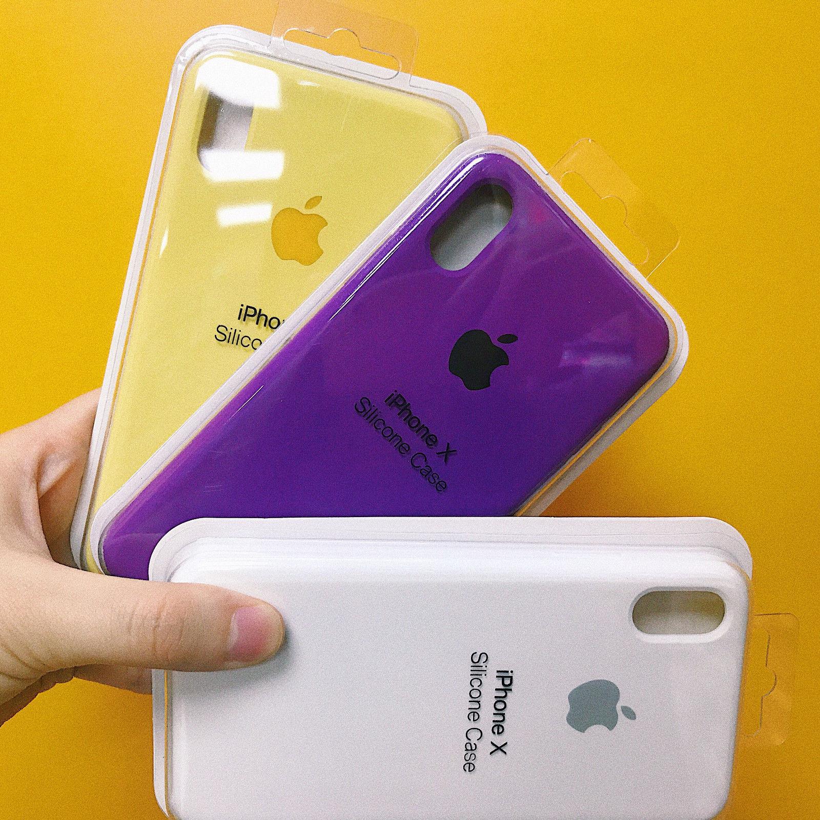 Original Coque Silicone Case Apple iPhone X XR XS MAX 8 6 7 Plus Etui Coffret 3
