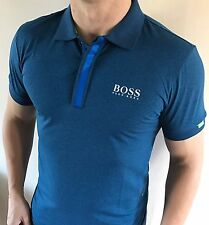Hugo Boss Fitted Polo Top tshirt BNWT New Light Blue size XXL *green label*