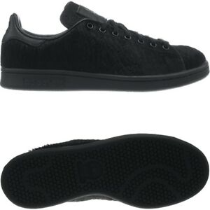 Adidas OC Stan Smith black real ponyhair men's sneakers collectors shoes NEW