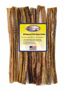 10-Count-12-inch-THICK-Shadow-River-USA-STEER-Bully-Sticks-Dog-Treats-Chew