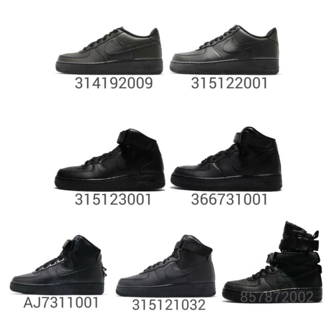 Nike Kids Junior Air 1 Pick 07 Men Hi Mid Out Triple Black Women Force All Nwy8Ovmn0