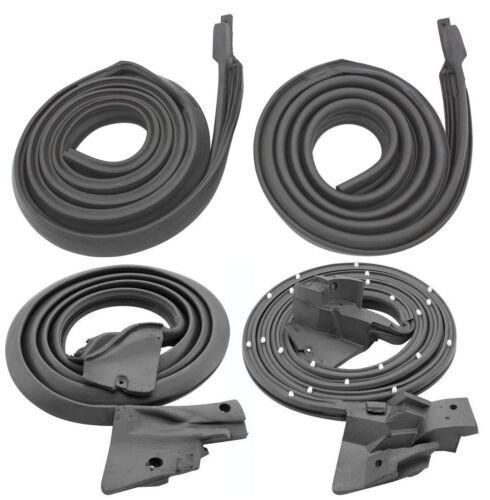 66 67 Chevelle Weatherstrip kit Door Roof Rail Trunk U jamb Verticles 9pc Kit