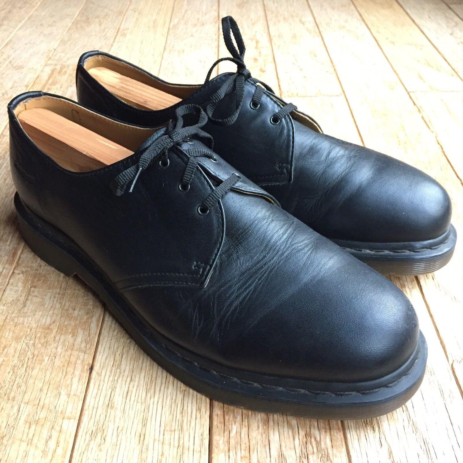 DR. MARTENS 11838 Mens Black Leather Classic Oxfords shoes Size UK 12 US 13