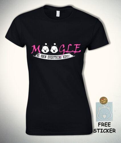 Final Fantasy T shirt Moogle We Know Everything Funny Kupo Tee 7 vii XV Womens