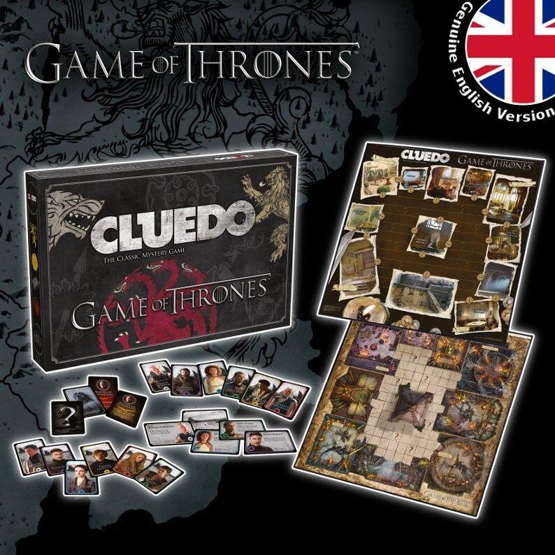 Cluedo game of thrones' spiel brettspiel brettspiel, englisch deutsch neu