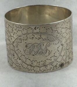Sheffield-Sterling-Martin-amp-Hall-1890-Napkin-Ring-triple-mono