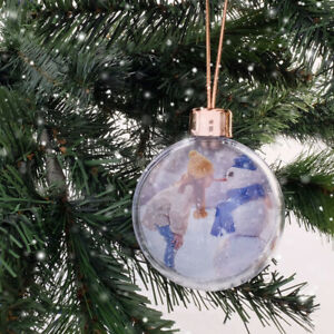 DIY Christmas Bauble Clear/Ice White Back With Rose Gold Top and Rose Gold Hangi