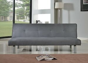 Image Is Loading Faux Suede Canterbury Fabric Sofa Bed 3 Seater