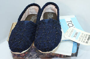 0ba15423fe9 New Toms Women s Shoes Flats Size 7 Blue Slippers Casual Slip On ...