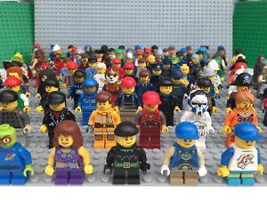 Minifiguras-LEGO-Figuras-Mini-Figuras-X-10-con-sombrero-de-pelo-o-Accesorios-Lote-De-Trabajo