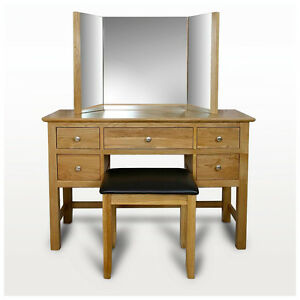 Image Is Loading Solid Oak Dressing Table Light Oak Dressing Table