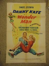 "Danny Kaye Virgina Mayo Vera Ellen Wonder Man Original 27x41"" Poster #L9507"