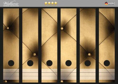 Goldene Ledertür Tür Wallario Ordnerrücken selbstklebend für 6 breite Ordner