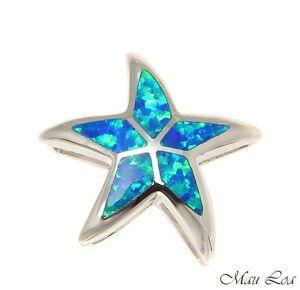 Blue Opal Slide .925 Sterling Silver Pendant
