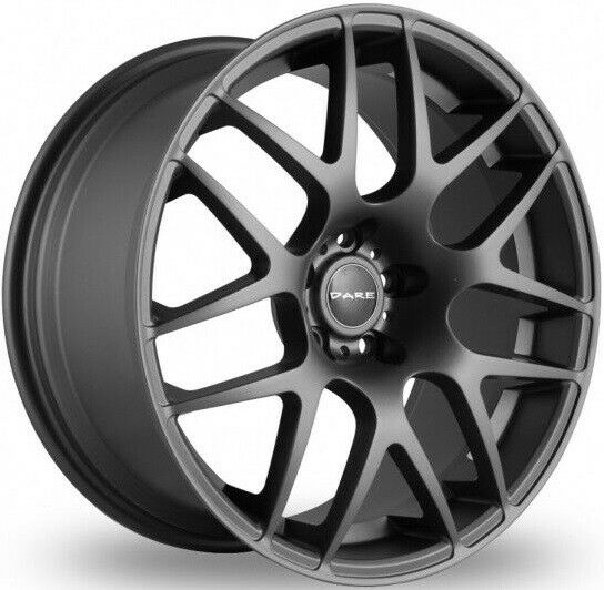"""18 """" Gris X2 Roues Alliage Pour 5X100 VW Bora Corrado Golf Mk 1V Beetle Polo"""