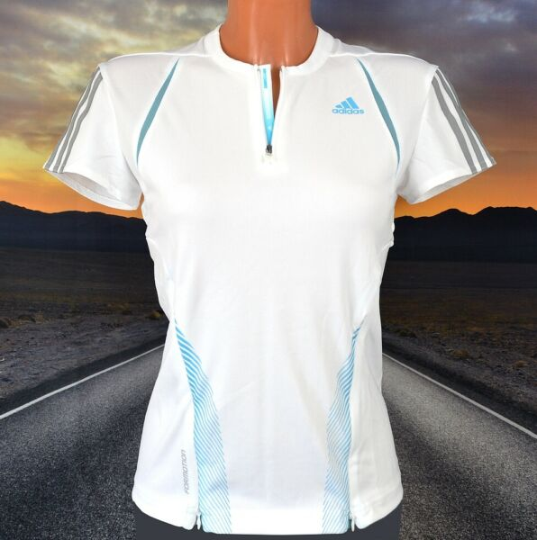 Adidas 3S Competition Tee Damen Tennis T-Shirt Sport Laufshirt Polo weiß/tükis
