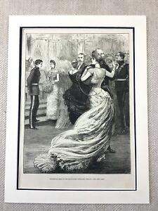 1882-Regimental-Ball-Artillery-Regiment-British-Army-Original-Antique-Print