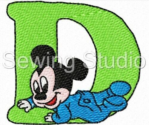 Disney Babies alfabeto Designs-Diseños De Bordado de la máquina en CD o USB