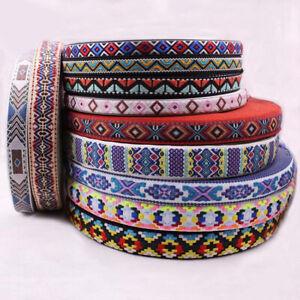 5-Yard-Lace-Embroidery-Polyester-Ribbon-Silk-Jacquard-Stitchwork-Sewing-Braid