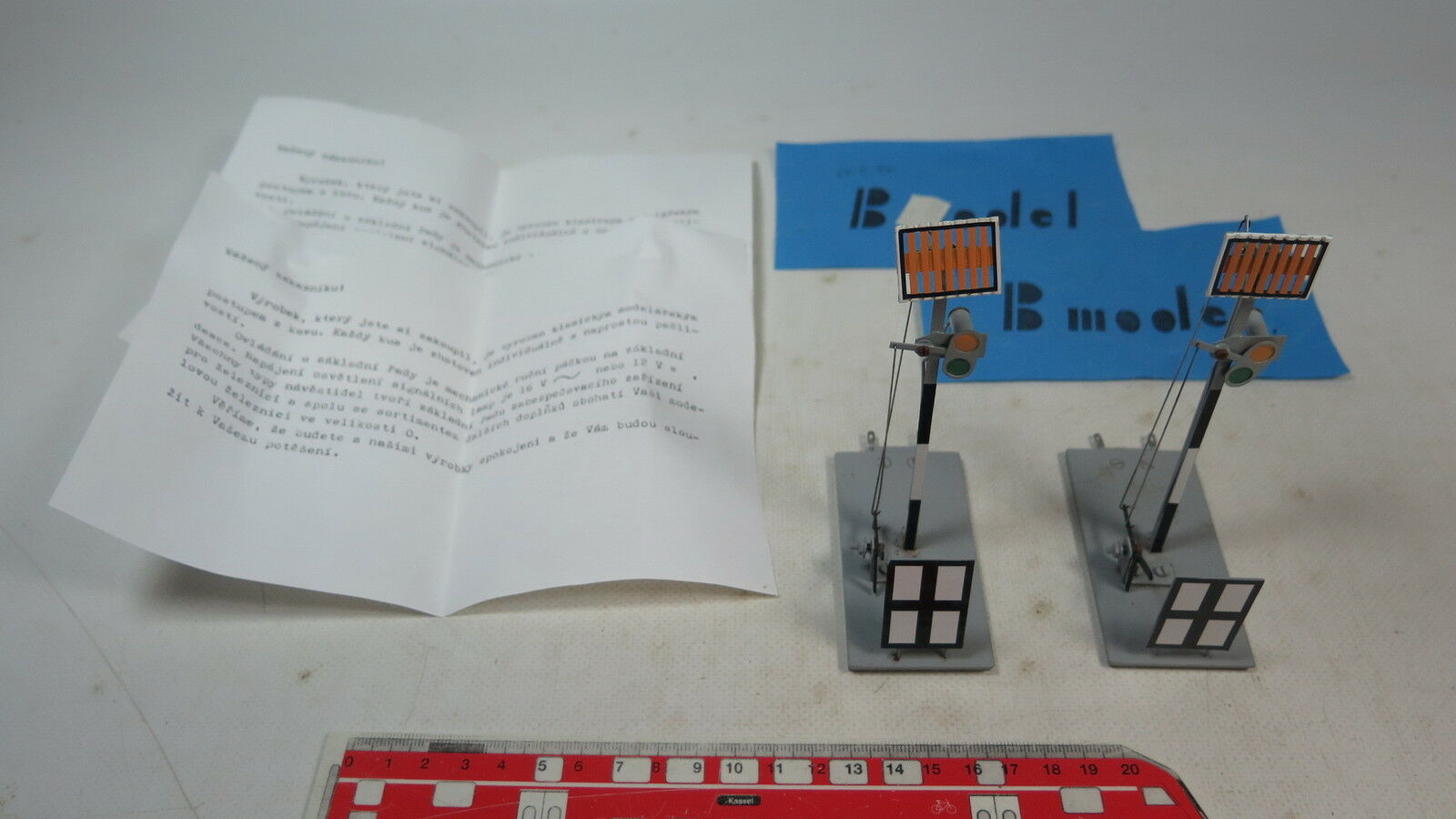 Ax899-0, 5 X B Model (ETS) O Gauge blech-signal for Manual Operation, Tested
