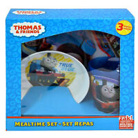 Thomas Tank Train & Friends 3pc Dinnerware Dining Gift Set Plate Bowl Cup 3+