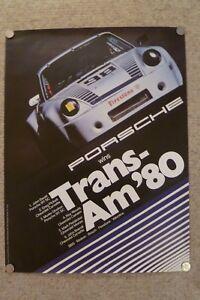 1980-Porsche-911-Sc-Coupe-Trans-Am-Victory-Exhibicion-Publicidad-Poster-Raro