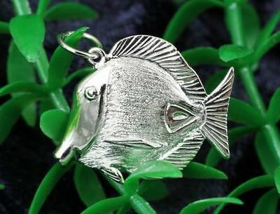 Fine 925 long Silver Necklace with tropical Fish in Silver 925 TROPICAL