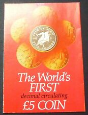 Isle of Man 5 Pounds Nickel Proof 1981 - World 1st Decimal 5 pounds coins