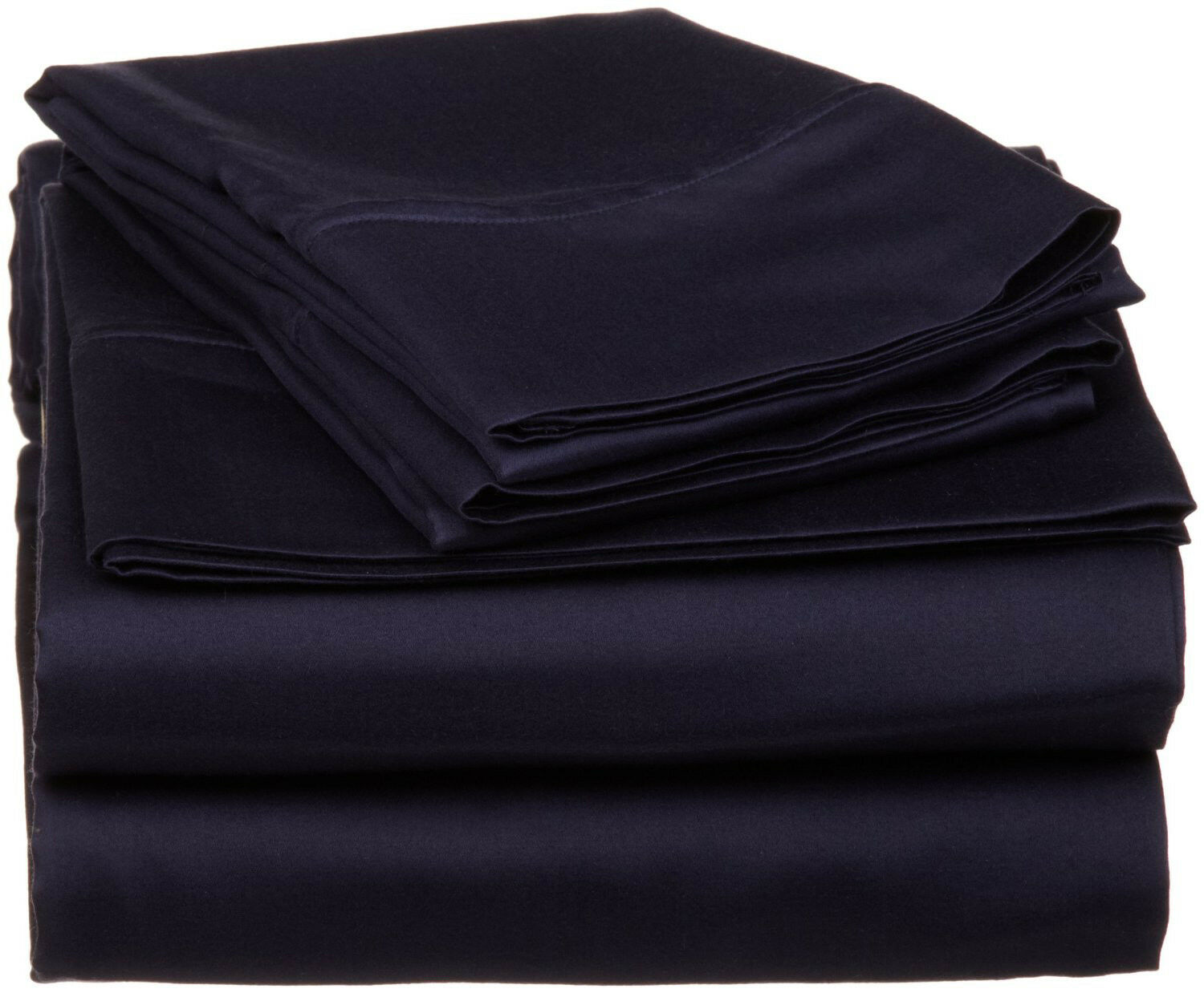 Complete Bedding Set Navy Blau Solid Choose Größes 1000 TC Egyptian Cotton