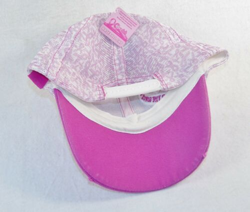 Pink Hat Breast Cancer Awareness Ball Caps ~ Distressed Bill /& Patches 1 sz all