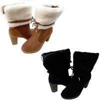 Michael Kors Womens Hawthorne Shearling Ankle Booties Platforms Heels Boots