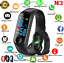 M3-Smart-Band-Watch-Bracelet-Wristband-Fitness-Tracker-Blood-Pressure-HeartRate thumbnail 2