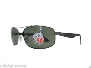 dc3cf85c28 new RAY BAN Polarized Sunglasses RB3527 029 9A Gunmetal Dark Green ...