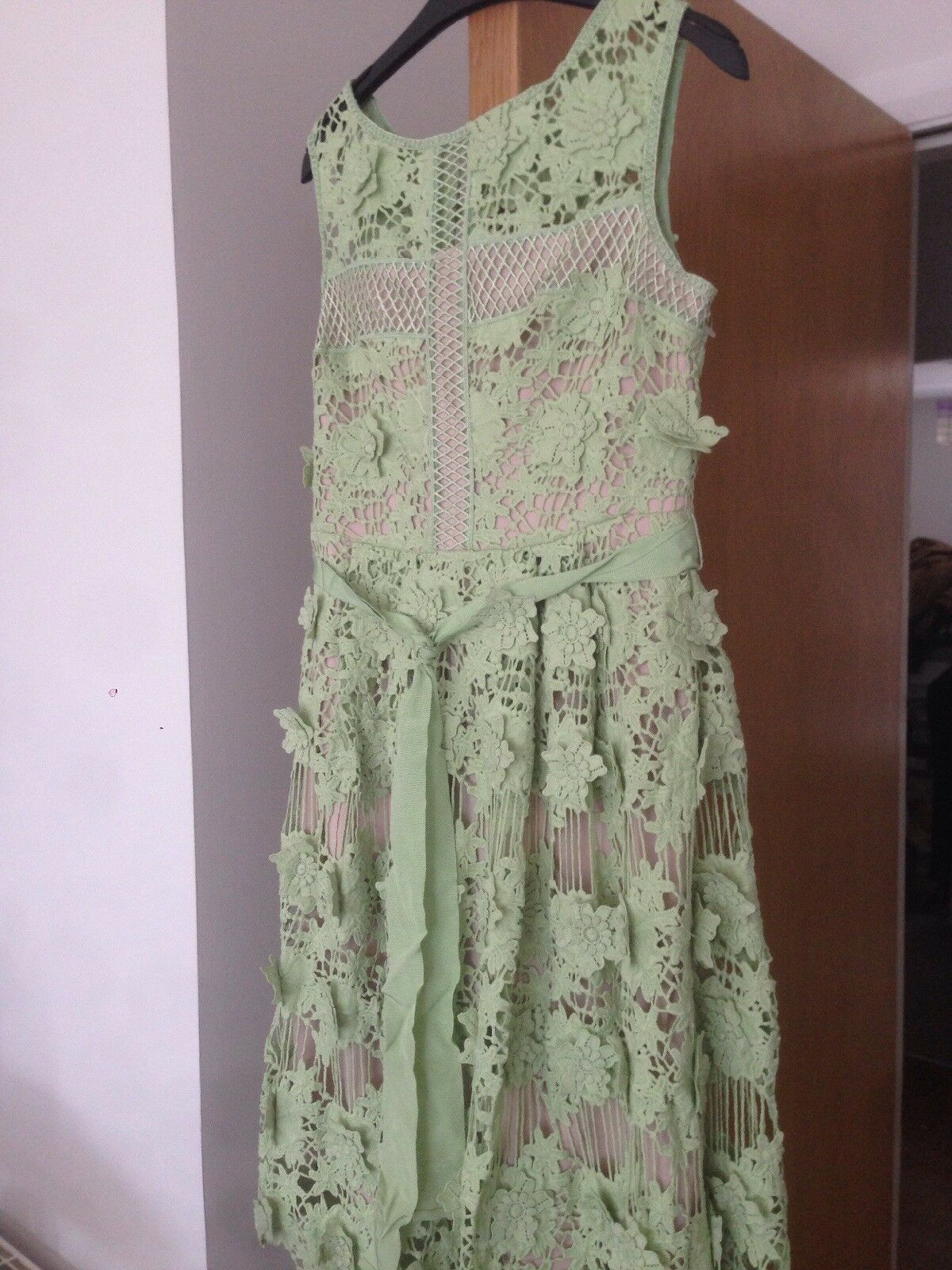 MesLes dames Phase Eight Bnwt Taille 10 PASTEL VERT nude Robe