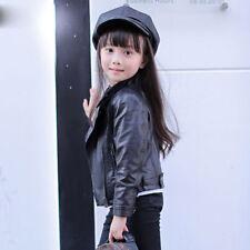 b588a6f9aaf1 LJYH Girls Leather Motorcycle Jacket Children s PU Love Coat Black ...