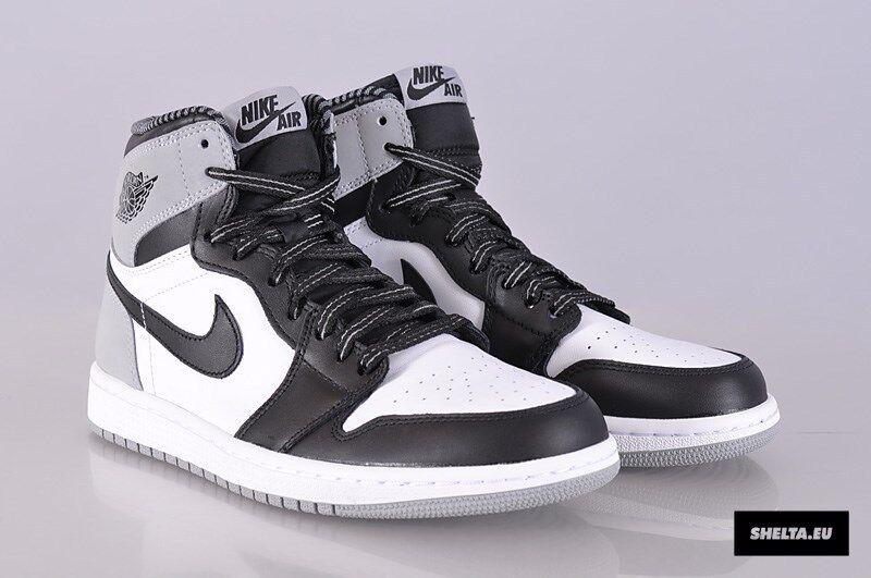 Nike Air Jordan 1 Retro High OG Barons Size 9.5. 555088-104 shadow bred
