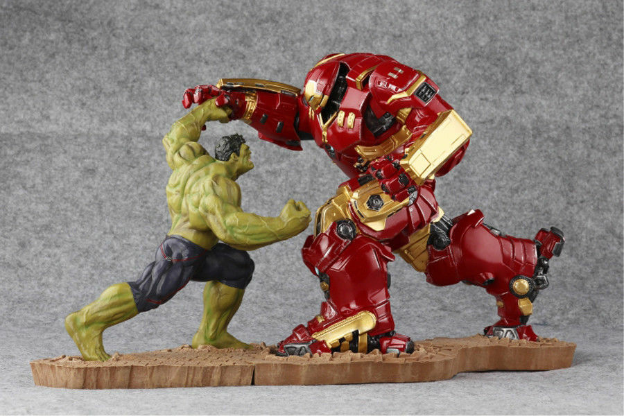 Avengers Age Of Ultron Ultron Ultron Hulk VS Hulkbuster Iron Man Collection Statue Model New 7b2b2b