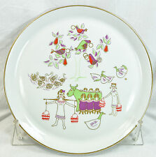 item 3 shenango 12 days of christmas plate eight maids a milking 1971 dick litzel shenango 12 days of christmas plate eight maids a milking 1971 dick
