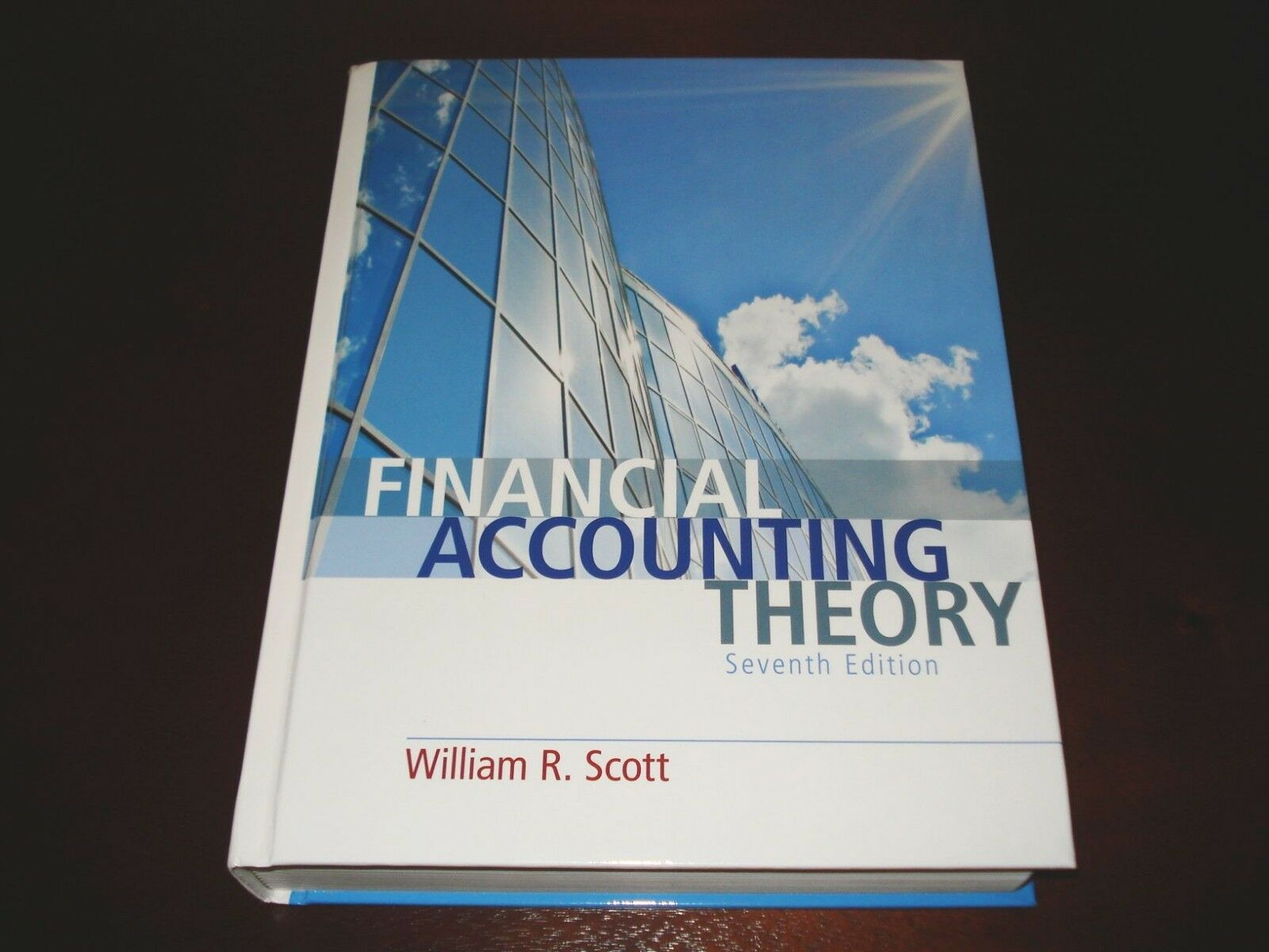 Financial Accounting Theory By William R Scott 2015 Hardcover Ebay
