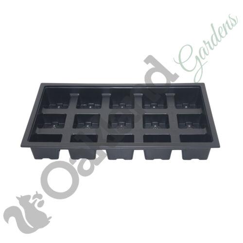 45 x 7 cm Square Pianta Pentole 3 x trasportare VASSOI Combo Deal Vaso di plastica nera