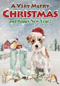 Jack-Russell-Terrier-Dog-A6-4-034-x-6-034-Christmas-Card-Blank-inside-by-Starprint