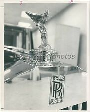 Hood Ornament of Rolls Royce Automobile Original News Service Photo